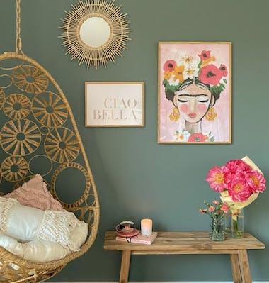 Barevné plakáty Frida dřevěné rámy na obrazy
