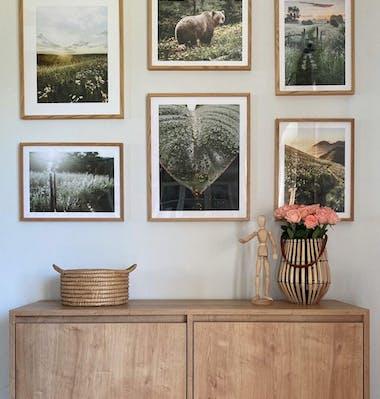 Obrázky přírody plakáty v dubových rámech