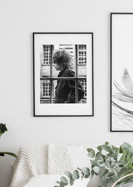 Passepartout 50x70 cm Vit i svart träram