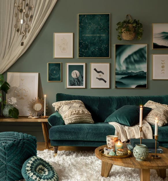 Beautiful nature posters blue photographs for living room