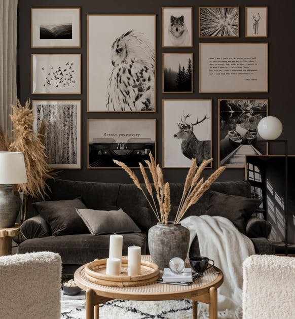 Trendy photo art and nature posters for living room